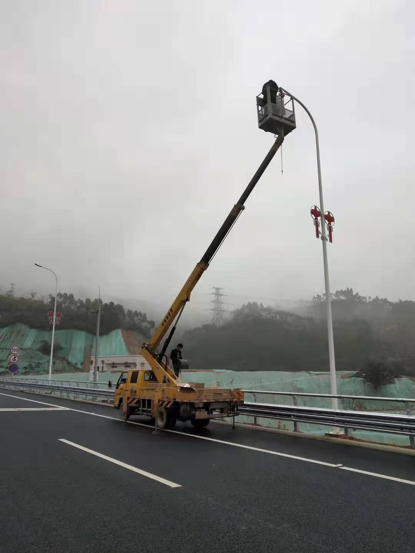led street light install